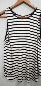 💐Townsen striped sleeveless shirt